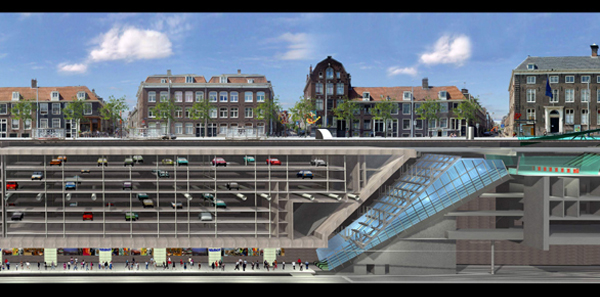 Cross section of the Noord/Zuidlijn