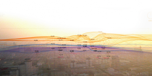In the Air is a visualisation of microscopic and invisible agents in Madrid´s air