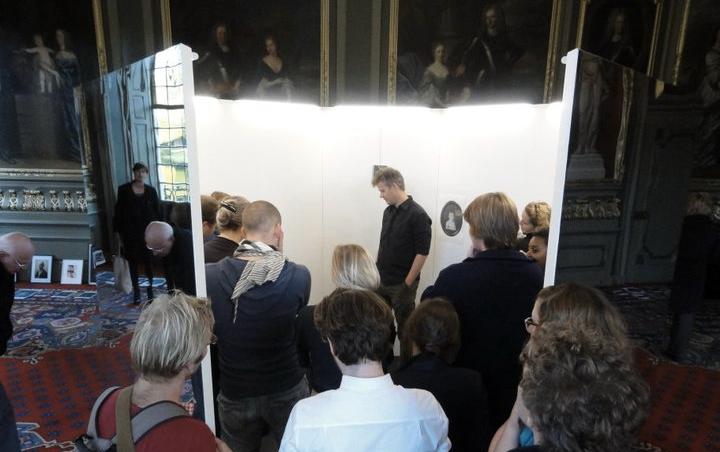 Composer Michel van der Aa presenting his musical ode to Ligeti