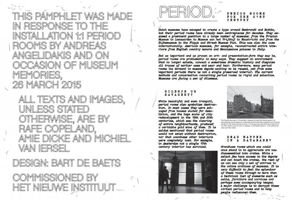 pamphlet Nieuwe Instituut